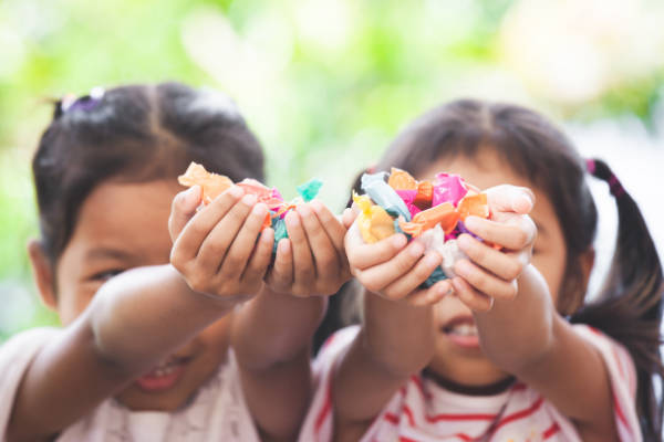 Kids Holding Candy